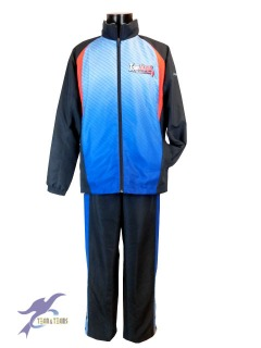 オーダー オリジナル 昇華ウィンドブレーカー ウォームアップシャツパンツ 富川ミニバスクラブ様1